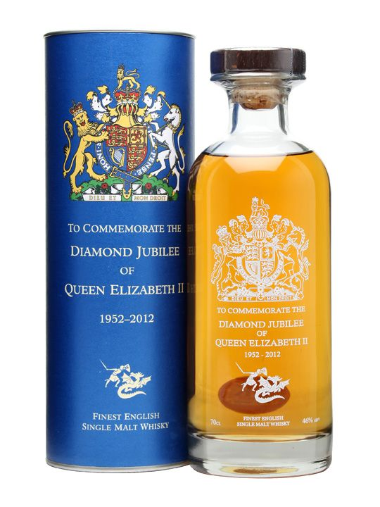 St. George's Distillery / Queen's Diamond Jubilee Decanter : Buy Online - The Whisky Exchange - A special limited edition bottling from The English Whisky Company to celebrate the Queen's Diamond Jubilee. Only 3300 bottles have been produced, matured in Norfolk near to the Queen's estate at S...