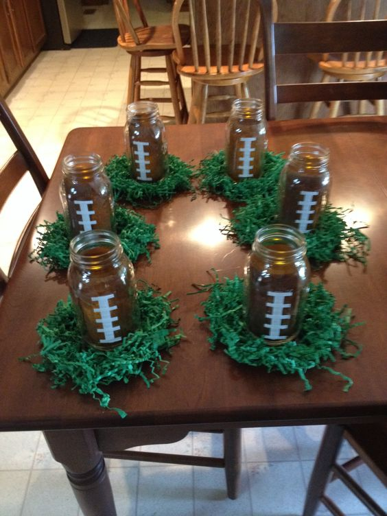 Could use these for football banquet or party centerpieces ...