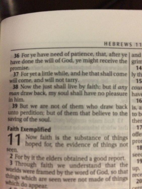 Hebrews 10:36-39
