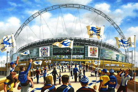 04 Bluebirds Over Wembley (Barrow AFC fans walking downWembley Way)