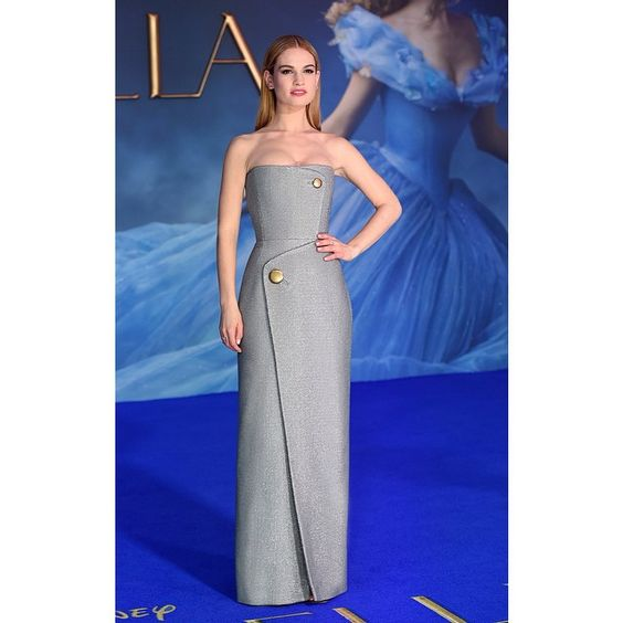 """Lily James wears Balenciaga to the UK Premiere of 'Cinderella' on March 19, 2015 in London #Balenciaga @LilyJamesOfficial #Cinderella"" Photo taken by @balenciaga on Instagram, pinned via the InstaPin iOS App! http://www.instapinapp.com (03/20/2015)"