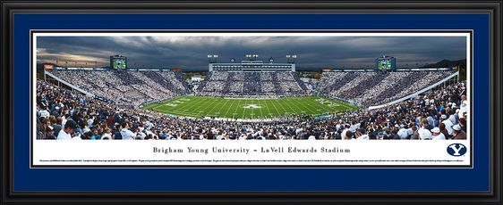 Brigham Young Cougars Football Panoramic Lavell Edwards Stadium Picture Byu Cougars Football Panoramic Print Byu Cougars