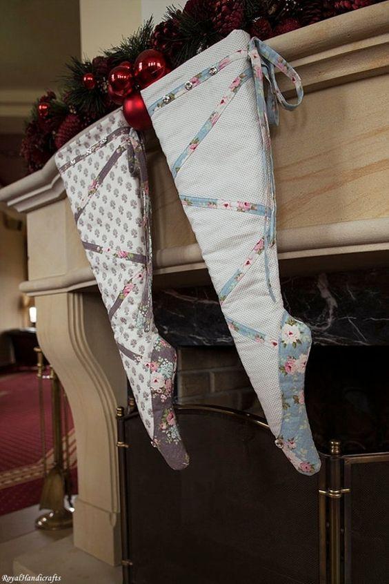 pointe shoe Christmas stocking