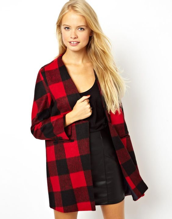 Coats ASOS and Plaid on Pinterest