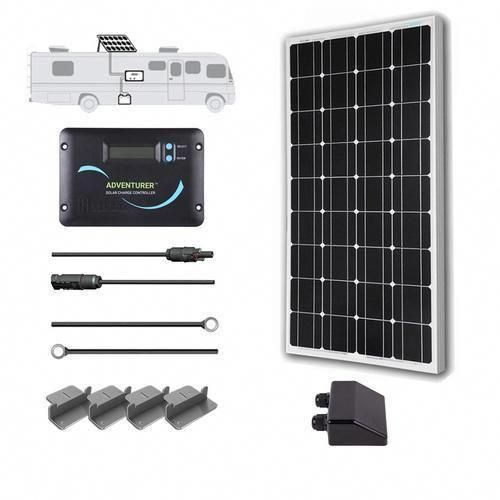 Renogy 100 Watt 12 Volt Solar Rv Kit Rng Kit Rv100mb Adv30 Solarpanelkits Solar Kit Solar Panel Kits Solar Panels