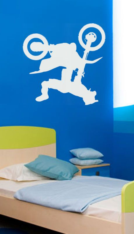 Large Motocross Motorcross Dirt Bike Kid Room Wall Vinyl Decal Sticker | eBay