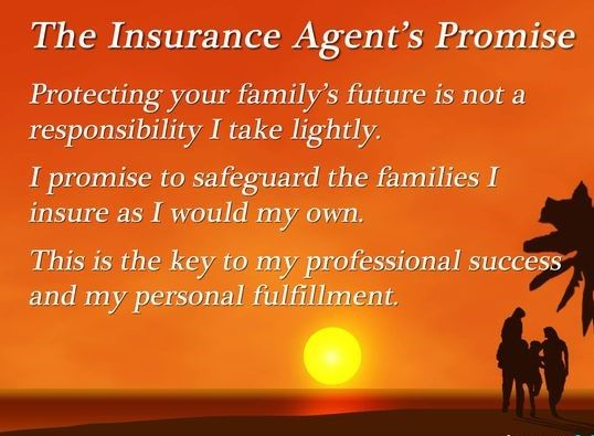A Life Insurance Agent Promises To Protect Clients And Families As They Would Protect Their Own Not All L Life Insurance Agent Life Insurance Sales Insurance