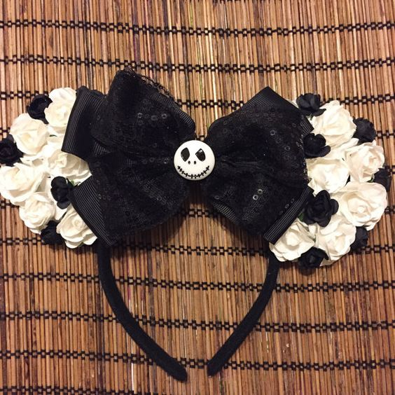 The nightmare before Christmas floral ears, Jack Skellington: