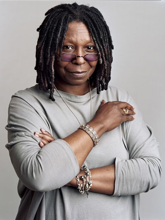 Whoopi Goldberg (born Caryn Johnson), American actress, comedian, radio disc jockey, producer, author, singer-songwriter, talk show host & Broadway star. In addition to her stand-up, she is known for her films The Color Purple, Ghost, Clara's Heart, Sister Act 1&2, Sarafina!, Jumpin' Jack Flash, Corrina, Corrina, For Colored Girls, Ghosts of Mississippi, & The Lion King. She currently co-hosts the talk show, The View. She is one of only 11 people who have won an Emmy, Grammy, Oscar, & Tony…