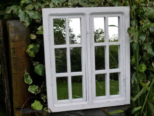 Pin By Lisa King On Window Pane In 2020 Garden Mirrors Wooden Window Frames Shabby Chic Panels