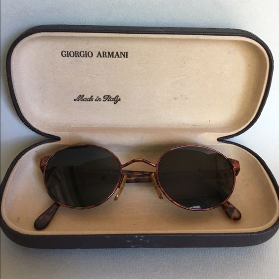 Vintage Giorgio Armani Tortoise Shell Sunglasses Tortoise Shell Sunglasses with round lenses. Very retro. In great condition. Comes with case. Giorgio Armani Accessories Sunglasses