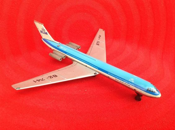 Vintage Toy Metal Airplane Royal Dutch 62-741 PH-ILS Collectible Decorative #RoyalDutch62741PHILS
