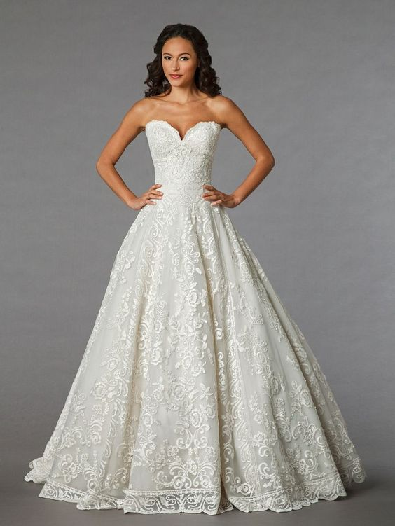 Danielle Caprese Lace Wedding Dress