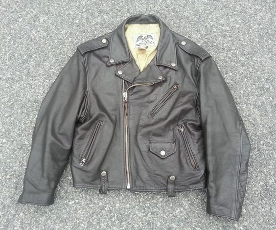 Vintage Avirex Limited Heavy Leather Motorcycle Jacket size XL #AVIREX