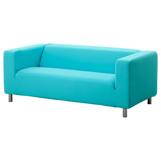 KLIPPAN Loveseat cover - Granån turquoise - IKEA. I NEEEEEED this couch and the turquoise cover so that I can replace the huge old couch in my loft/office. This would look so cute in there with the colors I want to do.
