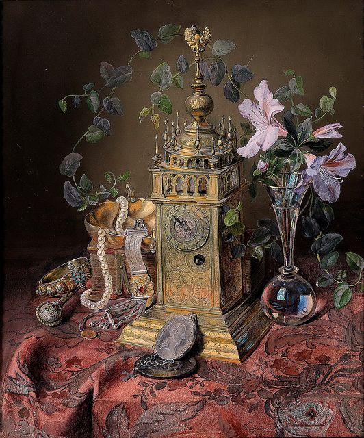 Josef Neugebauer: Still life with a turret clock