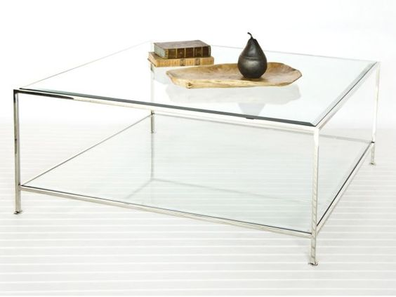 Coffee Table Large Square Glass Coffee Table Caracole Classic