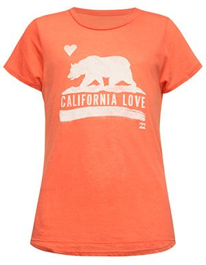 BILLABONG Cali Bear Girls Tee  Pink