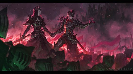 The Witch Queens of Agmathaar, Benjamin Ee on ArtStation at https://www.artstation.com/artwork/B69Bk