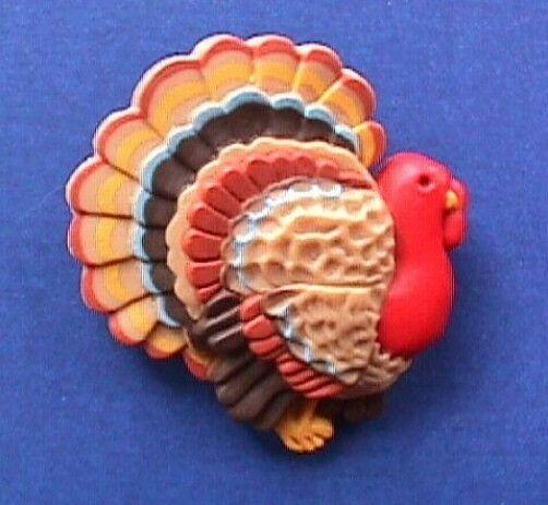 Hallmark PIN Thanksgiving Vintage TOM TURKEY Holiday Brooch C