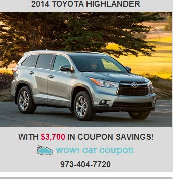 There isn't a better car than this fantastic-looking #Toyotahighlander!! Warm and welcoming, the perfect way to describe this #beautiful SUV!! Whoa #couponsavings available on this vehicle!! Check it out www.wowcarcoupon.com!! #wowcarcoupon #greatcoupons