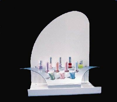 Factory custom design acrylic cosmetic display for counter DMD-23