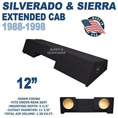Chevy Silverado Gmc Sierra Extended Cab 89 98 12 Dual Sealed Sub Box Ct Sounds Extended Cab Chevy Silverado Silverado