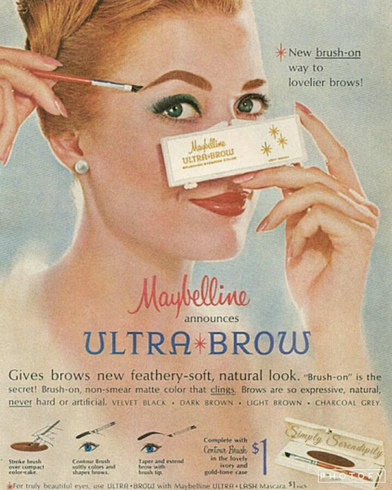Your only as bold as your brows #vintagemakeup #wevecomealongwaysbaby #browsonpoint #dayspa #simplyserendipity #paulsvalleyok