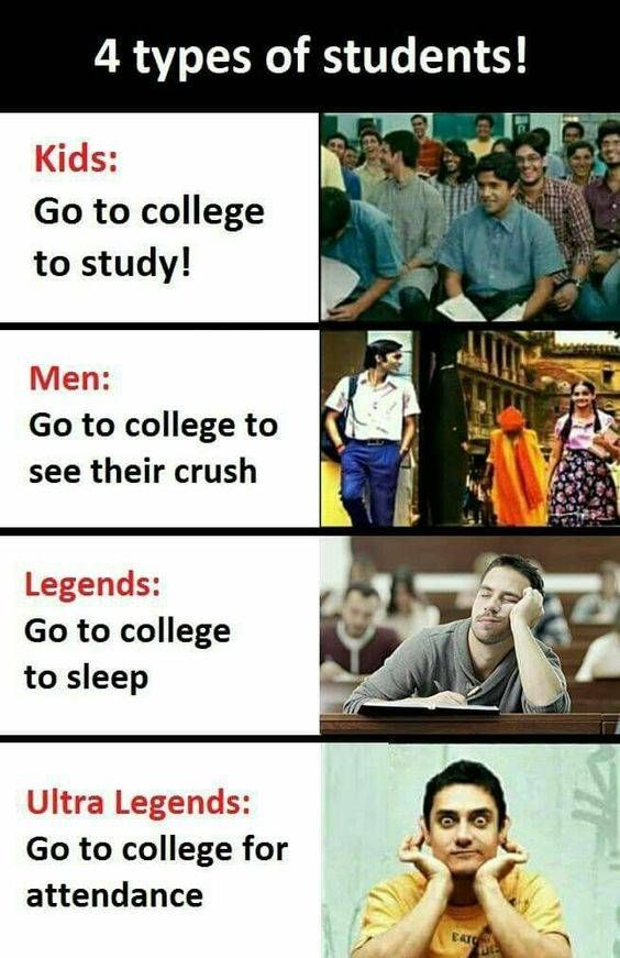 Ultra Legends Go To College For Attendance Funny School Jokes Funny English Jokes Funny School Memes