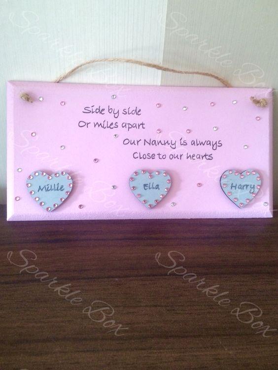 Nanny plaque gift  Https://m.facebook.com/sparkleboxcambridge?_rdr