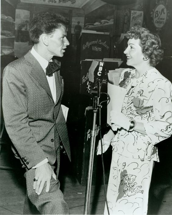 Frank Sinatra & Claudette Colbert At The Hollywood Canteen