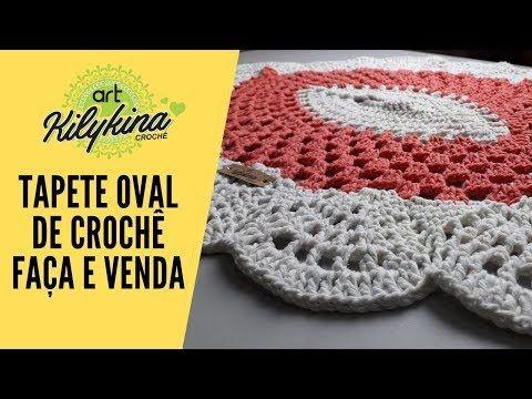 Tapete Oval De Croche Super Facil Youtube Em 2020 Tapetes