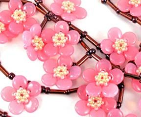 Sakura  bead design each one measures 10 mm diameter kit for purchase, inspiring