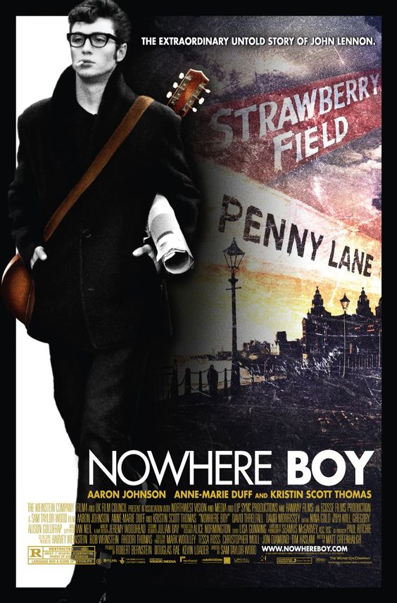 Nowhere Boy (2009) About John Lennon's boyhood. Surprisingly great movie.