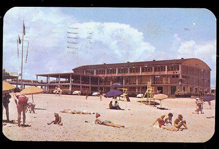 Myrtle Beach, SC, Ocean Front Pavilion 1954 Postcard