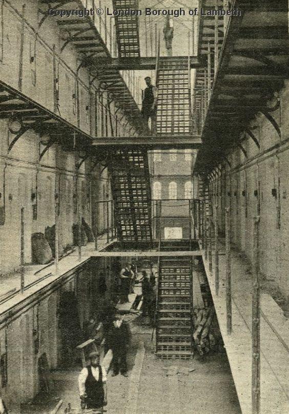 Brixton Prison Interior, Brixton Hill 1902