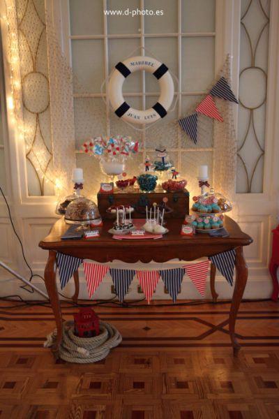 Mini candy bar marinera diseño de Petit Plaisir   decoración ...