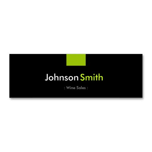Wine Sales - Mint Green Compact Business Card Templates