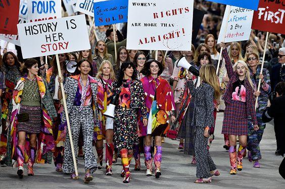 Chanel fez, além de desfile, um protesto fashion | Stefany