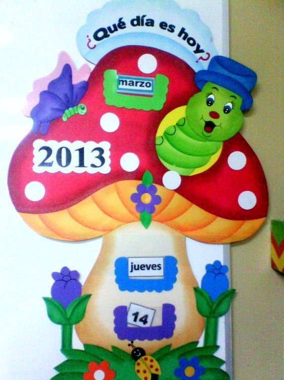 Calendario para ni os en goma eva manualidades elegancys for Caja de colores jardin infantil