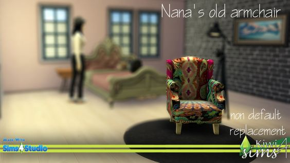 Nana's old armchair at Kiwi Sims 4 via Sims 4 Updates