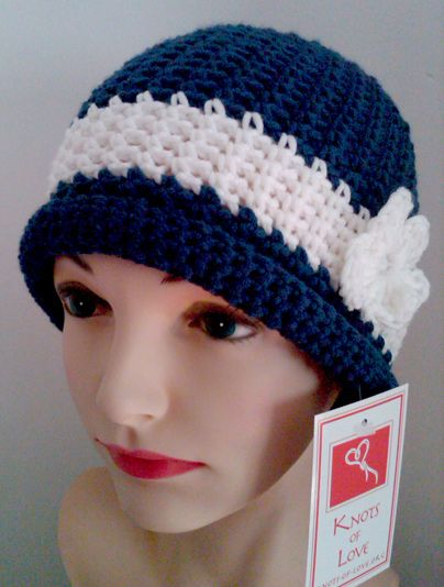 Knit Patterns For Hats For Cancer Patients : Crochet cap, Cap dagde and Different styles on Pinterest