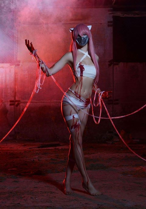 lucy from elfen lied cosplay