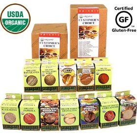 Spicely Organic Spices Gift Set Customer`s Choice 12-box Sampler ...........Low Rate Shipping