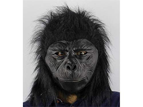 Funny Cosplay Halloween Chimp Monkey Head Mask Latex Animal Party Costume Prop