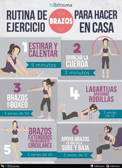 ejercicios para rebajar brazos en casa