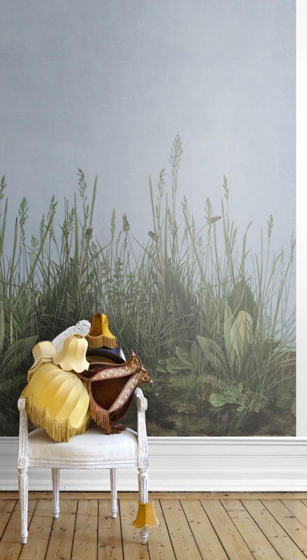 165,00 Euro. Mr. Perswall P162301-4 Vlies-Tapete Zarte Natumalerei Gras- und Blumenwiese im Morgennebel
