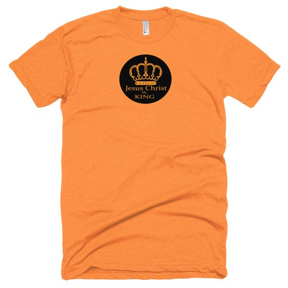 Short sleeve soft t-shirt (Jesus Christ my KING)