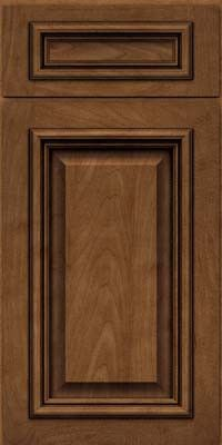 KraftMaid Cabinets -Square Raised Panel - Solid (AA8M) Maple in Rye w/Onyx Glaze from waybuild