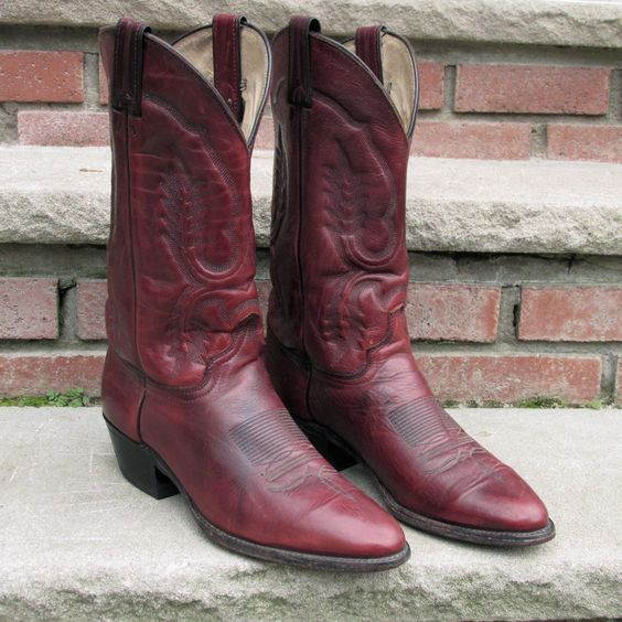 Boots Cowboys and Leather on Pinterest